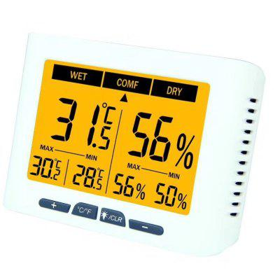 Backlight Thermometer Calibration Hygrometer Digital Home Office Factor Temperature Masure