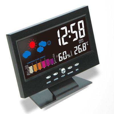 Thermometer Hygrometer Large Screen Calendar Clock Weather Station Clock Temperature Humidity Meter