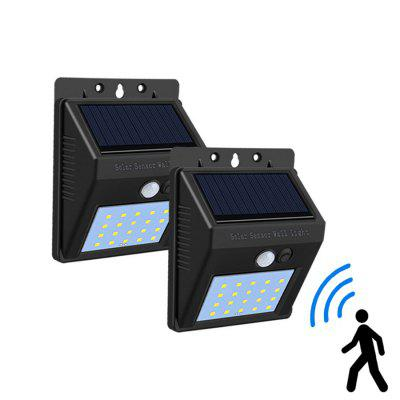 20 LEDs Solar Defiant Motion Security Light Wall Lamp IP65 Outdoor Path Way Garage Lamp