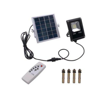 20-LED Light IP65 Waterproof LED Solar Flood Light With Remote Control Black for Hallway Pillar