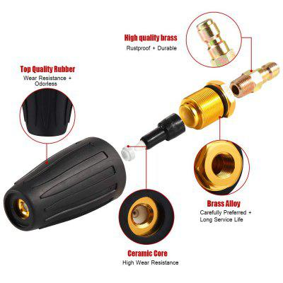 USEU 3000Psi 360 Degree Rotating Pressure Washer Nozzle For Cleaning Car Garden Road Brick Concrete