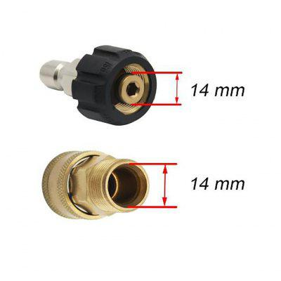 2pcs Set High Pressure Washer Quick Connect Adapters