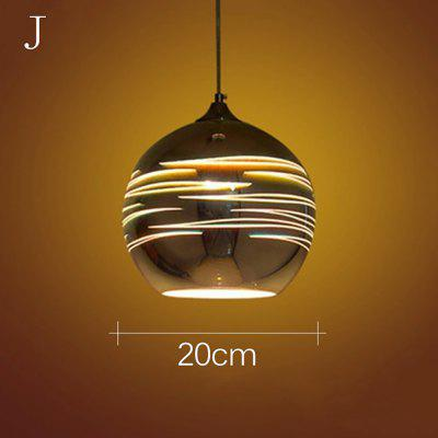 3D Colorful Nordic Starry Sky Hanging Glass Shade Pendant Lamp Lights E27 LED