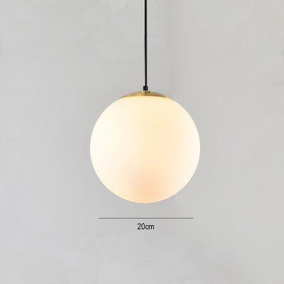 Modern LED Round Glass Ball Pendant Lights Iron E14 Pendant Lamps Hanging Light Fixture
