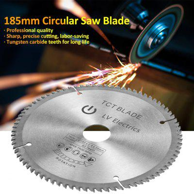 185mm Silver TCT Circular Saw Blade for Wood Cutting 80 Teeth and 3Pcs Reduction Rings