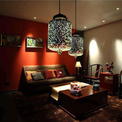 Modern 3D Colorful Nordic Starry Sky Hanging Glass Shade Pendant Lamp Lights E27 LED