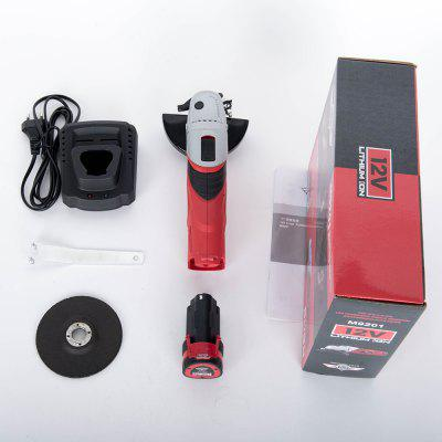 Angle Grinder with 12V Lithium Battery Angular Power Tool Grinding Metal Wood Machine