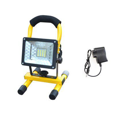 18650 Rechargeable Floodlight 30W 24 Led Flood Light Waterproof Outdoor Lights Construction Lamp