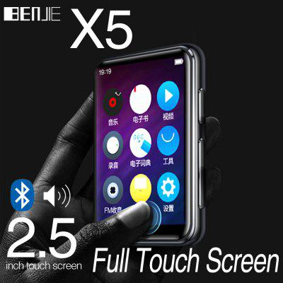 Full Touch Screen Bluetooth MP3 Music Player FM Radio E-book with Speaker
