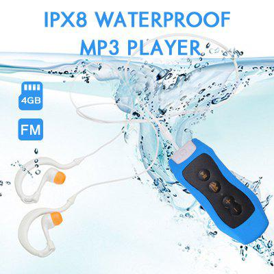 IPX8 Waterproof Swimming MP3 Player for Summer Diving Outdoor Sport FM Radio