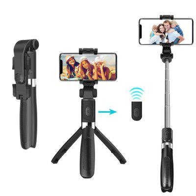 Selfie Stick Tripod Bluetooth With Shutter Remote Smartphone Stand Mobilephone Clip Wireless