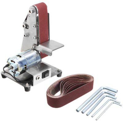 350W Mini Electric Belt Machine Sander Sanding Grinding Polishing Machine Abrasive Belts Grinder