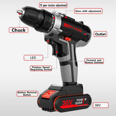 Hand Drill Cordless Impact Driver Electric Drill Rechargeable Electric Screwdriver Drill Tool