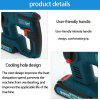 18V 2500mAh Cordless Lithium-ion Hammer Drill Electric Perforator Impact Hammer with LED Light