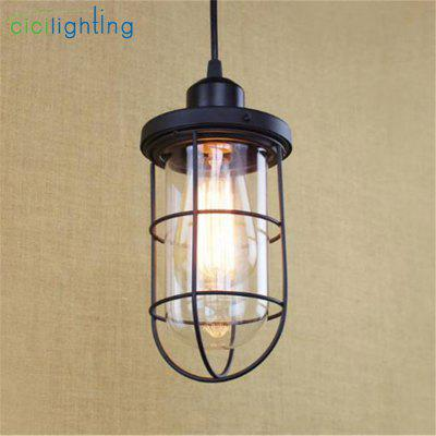 Industrial Pendant Lighting Single-head Lamparas dHanglampen Glass Shade Protection