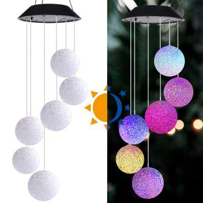 Outdoor LED Solar Powered Butterfly Wind Chimes Hanging Light