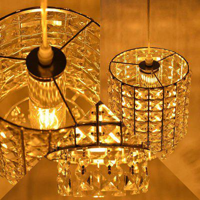 Plug in luminarias Crystal Pendant Lights Hanglamp