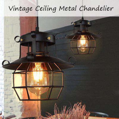 Vintage Pendant Ceiling Lights Metal Industrial Lamp Ceiling Chandelier Fixtures Cage Decoration