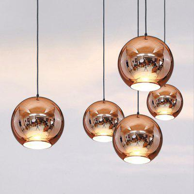 Modern Mirror Globe Pendant Light Copper Color Lamp Pendant Modern Lighting Fixtures Hanging Lamp