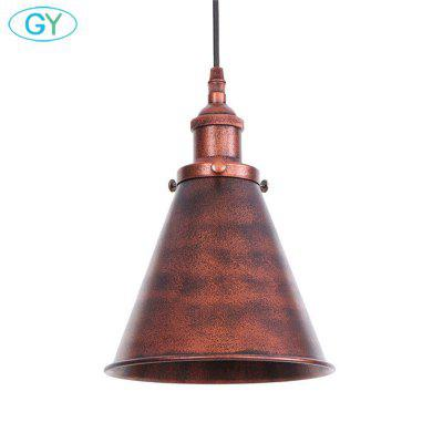 E27 Farmhouse Pendant Light Retro Brown Home Deco Ceiling Pendant Lamp Island Vanity