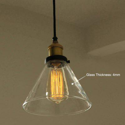 Mini Pendant Lights Vintage Industrial Clear Glass Shade Lighting Fixtures Modern Kitchen Island
