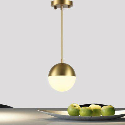 Brass Pendant Light Fixtures Dinning Room Nordic Simple Modern Pendant Lamp Hanging Light