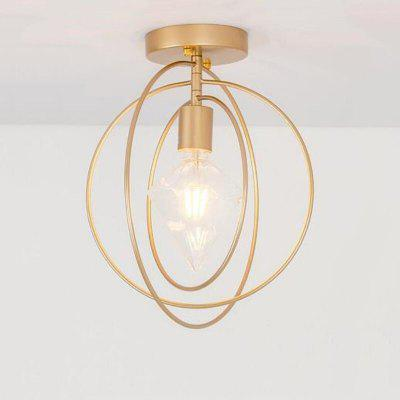 Vintage LED Ceiling Lights Lamparas Copper Ceiling Light Lamp Aisle Bedroom Lights E27