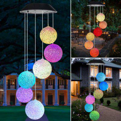 LED Solar Powered Butterfly Wind Chimes Light Home Garden Hanging Outdoor Pendant Lighting