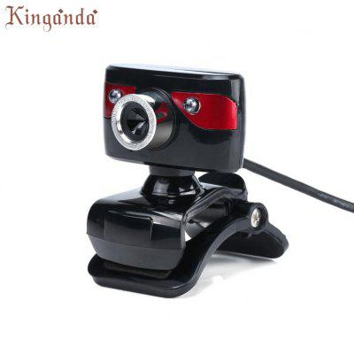 Webcam LED lights HD 12 Megapixels Camera Rotating Stand for Computer PC Laptop Camara Web