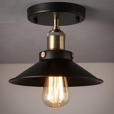 Vintage Edison Industrial Copper Ceiling Light Antique Brass 22CM Black Metal Ceiling Light