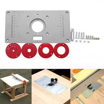 Aluminium Router Table Insert Plate Woodworking Benches Wood Models Engraving Machine