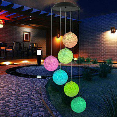 Solar Power lights Wind Spinner LED Lamp Outdoor Hanging Wind Chime Light