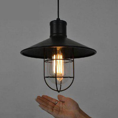 Industrial One-Light Adjustable Mini Pendant Lights with Clear Glass and Metal Lampshades