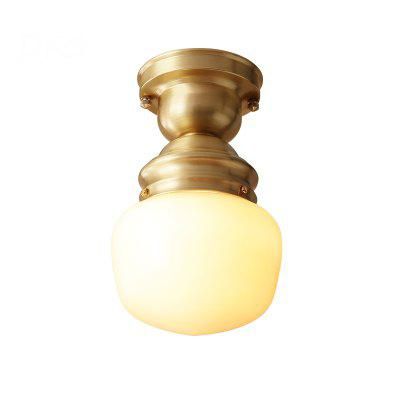 American Copper Ceiling Light Lamps Balcony Kitchen and Walkway Staircase Glass Ceiling Lamps