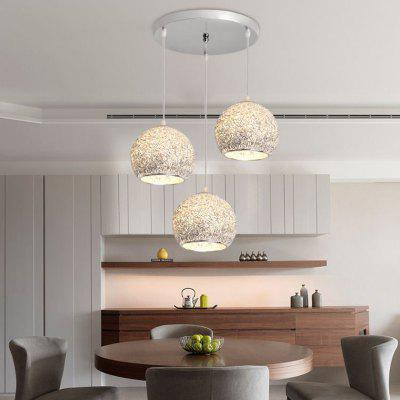 Kitchen Island Pendant Lighting Modern Lights Bedroom Aluminum Lighting Office Silver Ceiling Lamp