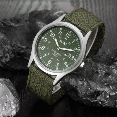 Nice Canvas Mens Watches Top Brand Luxury Analog Quartz Watch for man Big Dial Mens Watch