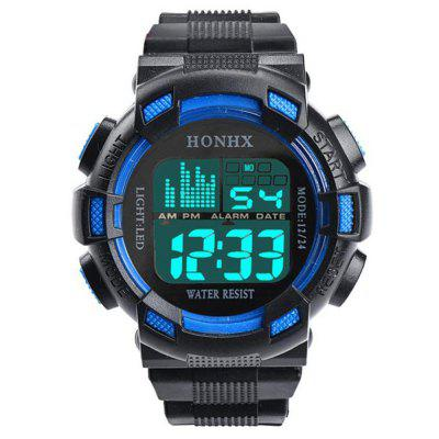 Fashion Digital Sports Alarm Date LED Wristwatch Waterproof Bracelet Cool Watch