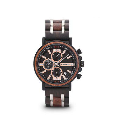 Wooden Watch Men Luxury Stylish Chronograph Military Watches