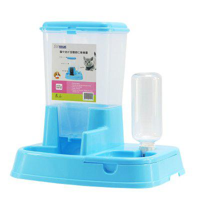 Automatic Cat Feeder Double Bowl Automatic Drinking Water Pet Automatic Feeder