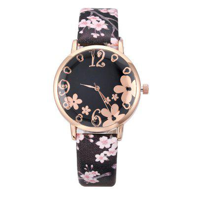 Women Watches Best Ladies Fashion Embossed Flower Watch