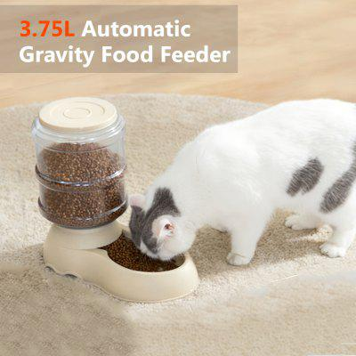 3.75L Cat Food Dispenser Food Feeder Dog Food Bowl For Cats Food Trough Feeder Large Capacity