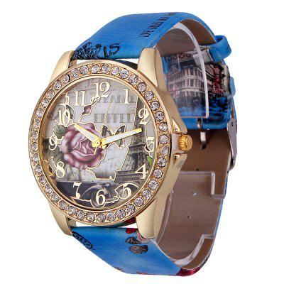 Women Luxury Leather Watches Cheap Lady Girls Wristwatches Gift