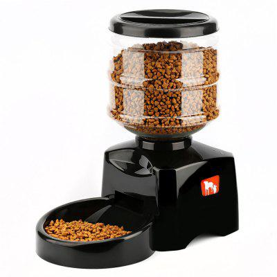 5.5L Automatic Pet Feeder Voice Message Recording and LCD Display Screen Large Smart Food Dispenser