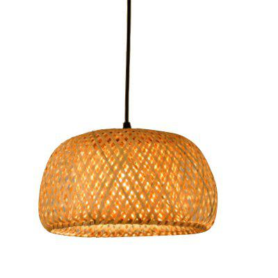 Modern Bamboo Pendant Light Weaving Chandelier Handmade Bamboo Lantern Hotel Home Decoration