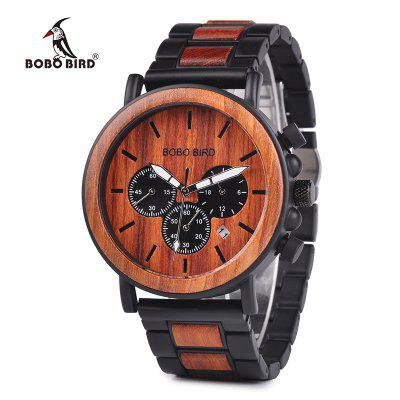 Wooden Men Watches Luxury Stylish Chronograph Military Watch  for Man