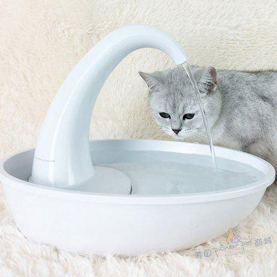 2.34L Faucet or Swan Pet Bowls Feeders And Waterers Plastic Flow Control
