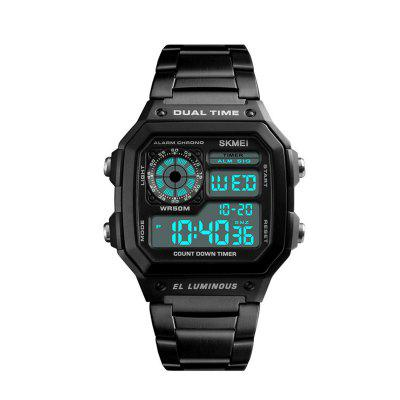 Business Men Watches Waterproof Sport Watch Stainless Steel Digital Wristwatches