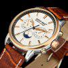 Nice Gold Case Men Quartz Watch Mens Leather Strap Watches