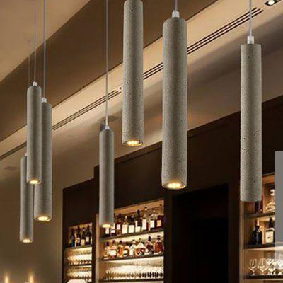 Modern Pendant Lights Industrial Lamp Concrete Cement Cylinder Pipe Kitchen Lights