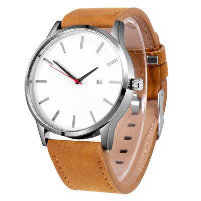 Men Quartz Watch Relogio Masculino Military Sport Wristwatch with Leather Strap